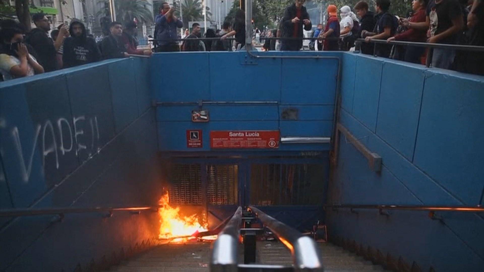 칠레, 지하철 요금인상 반대 시위 확산…비상사태 선포