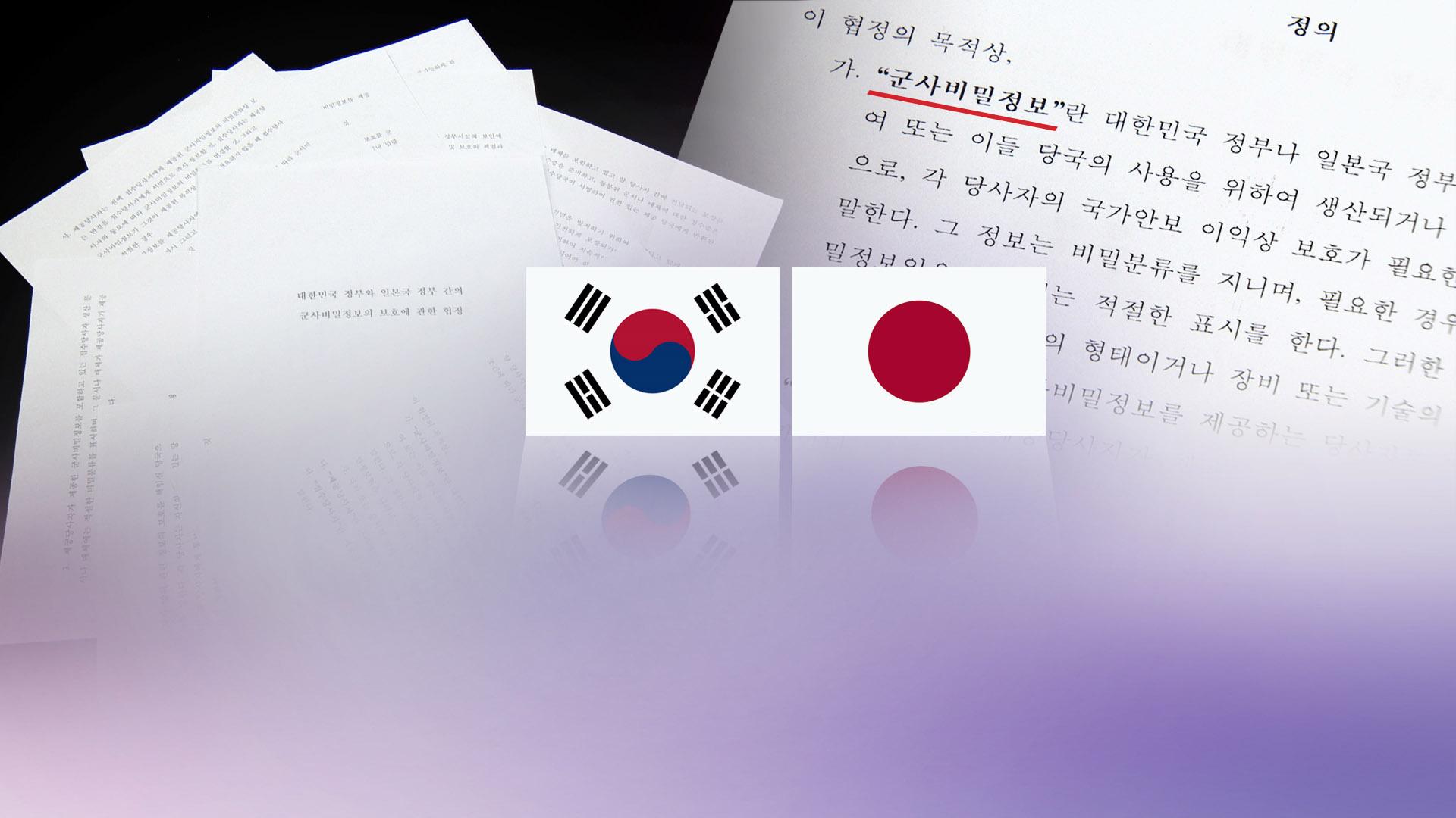 지소미아 종료 시한 '째깍'…美압박이 변수