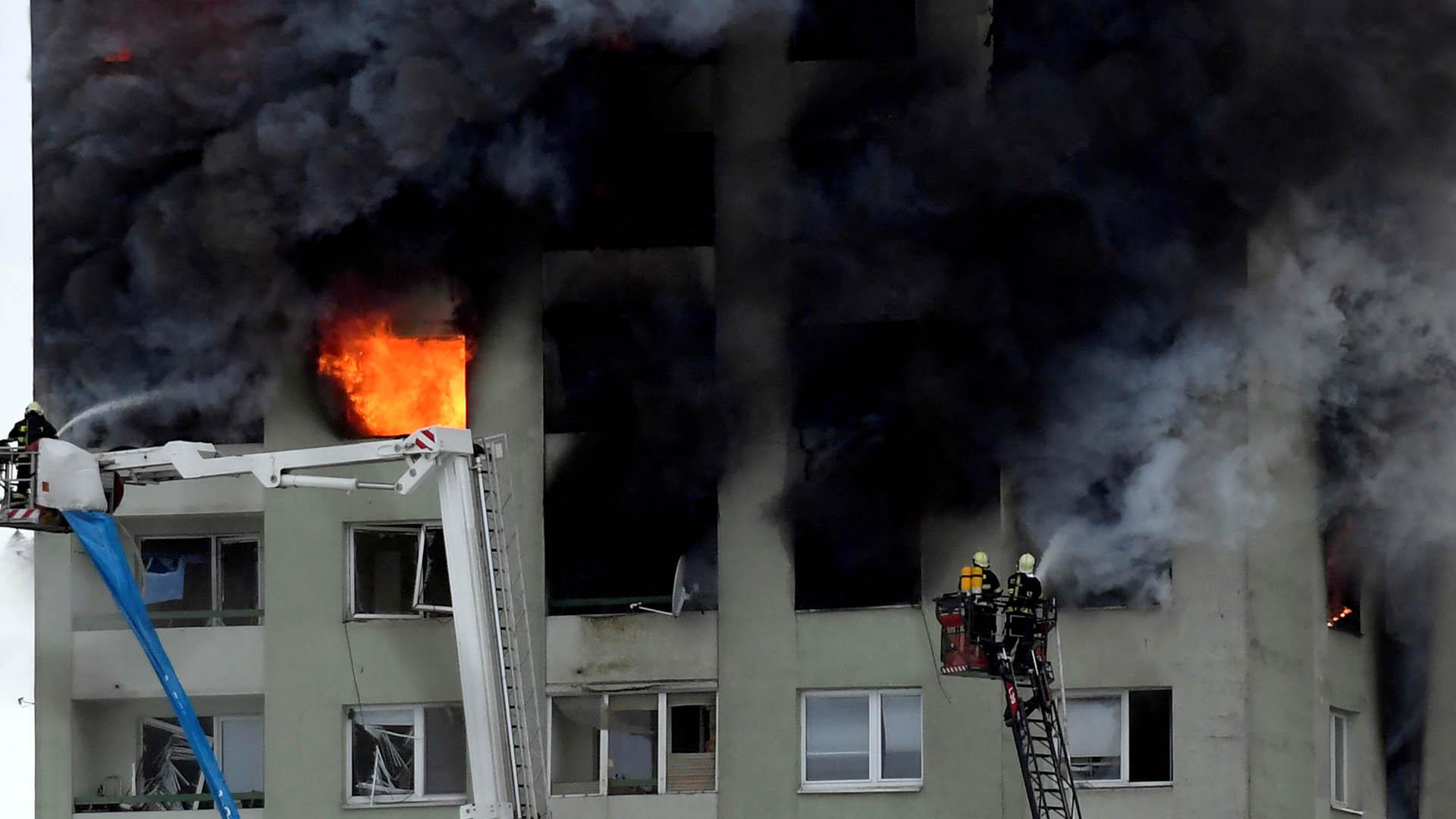 슬로바키아 아파트 가스 폭발…