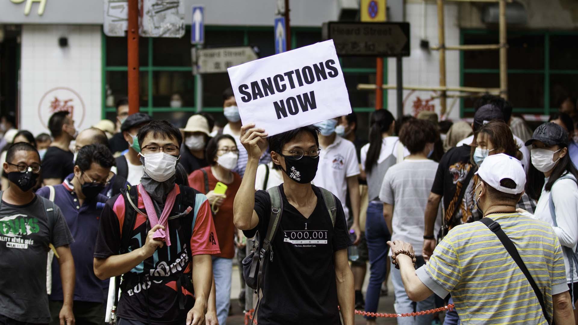 홍콩보안법 놓고 홍콩 갈등 심화…평일 도심시위