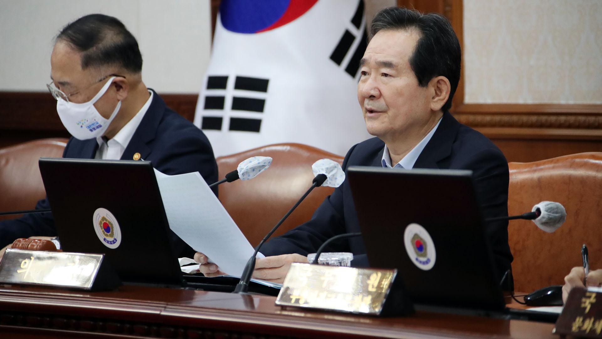 [현장연결] 정총리, 임시국무회의 주재…3차 추경 의결