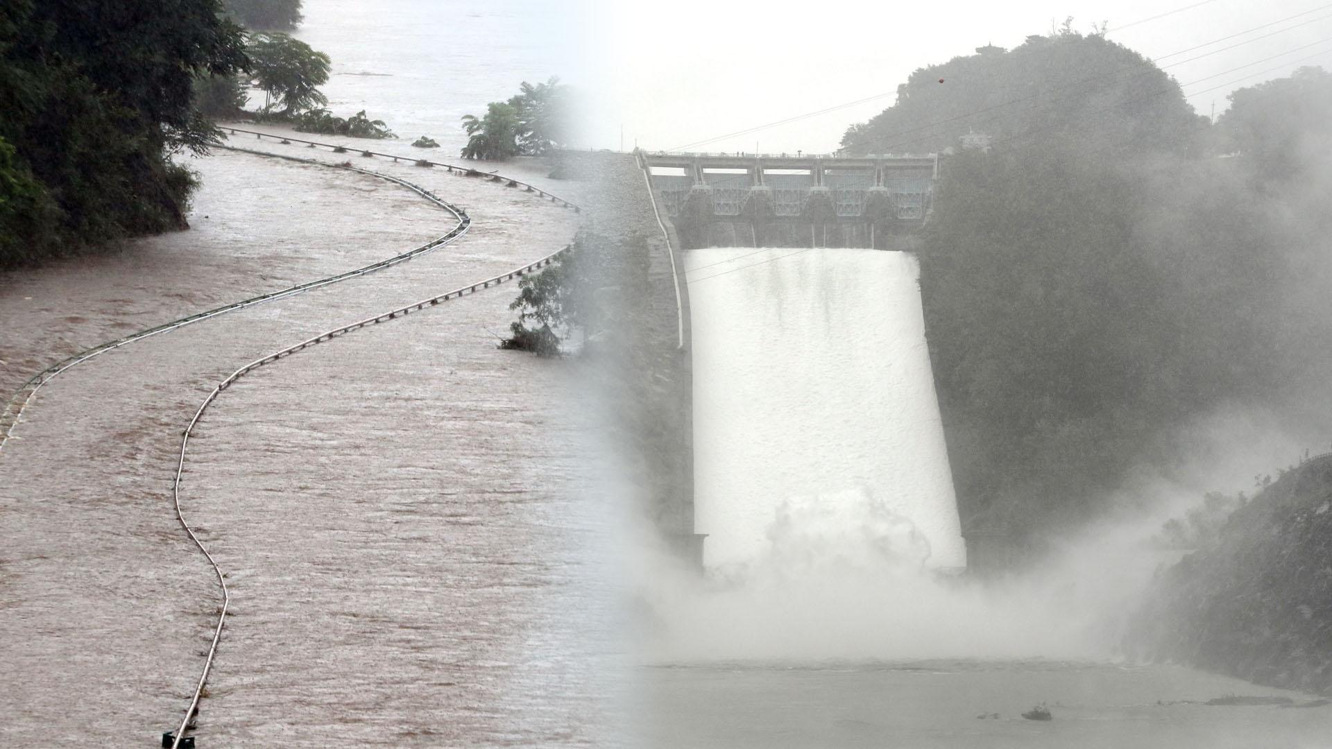 폭우에 강원지역 피해 속출…소앙강댐 3년 만에 방류