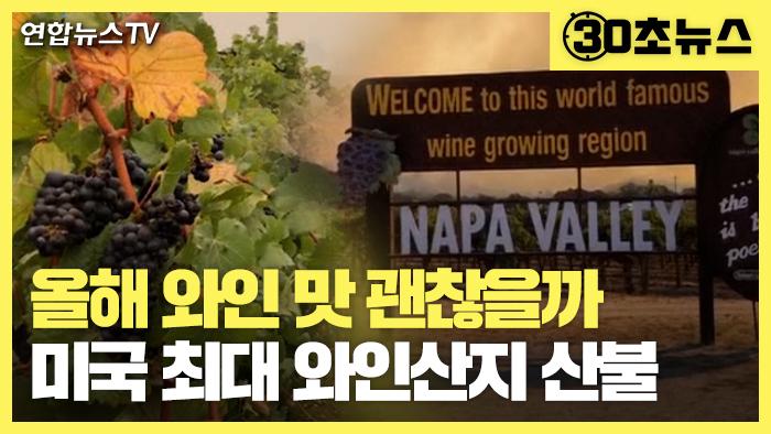 [30초뉴스] 美산불 와인 산지 '나파밸리' 덮쳐…올해 와인 맛 괜찮을까