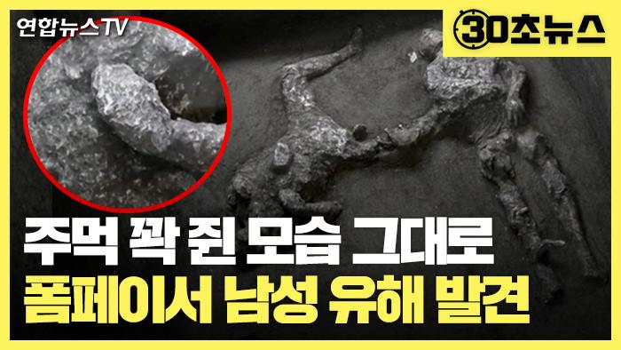 [30초뉴스] 폼페이 화산재에 파묻힌 2천년전 유해 2구 발견…주먹 꽉 쥔 채