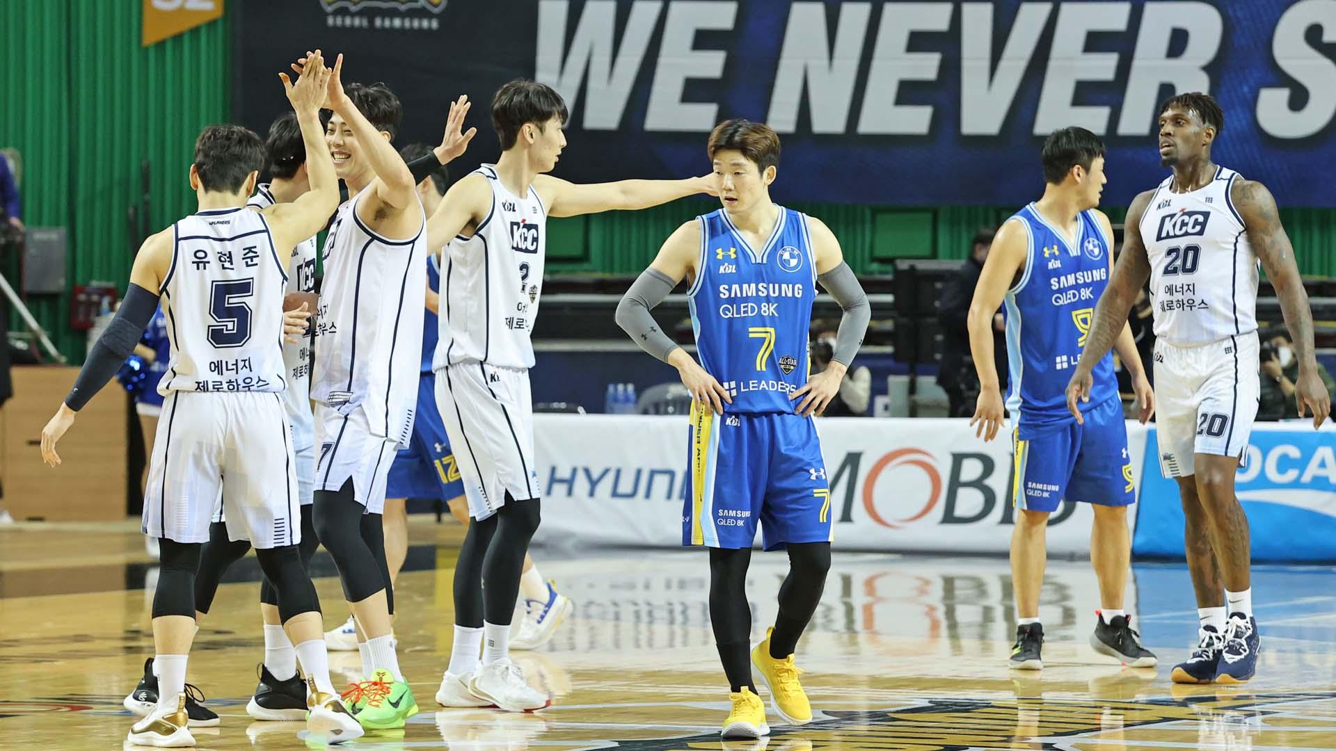 [프로농구] KCC, 삼성 꺾고 12연승…팀 최다 연승 타이