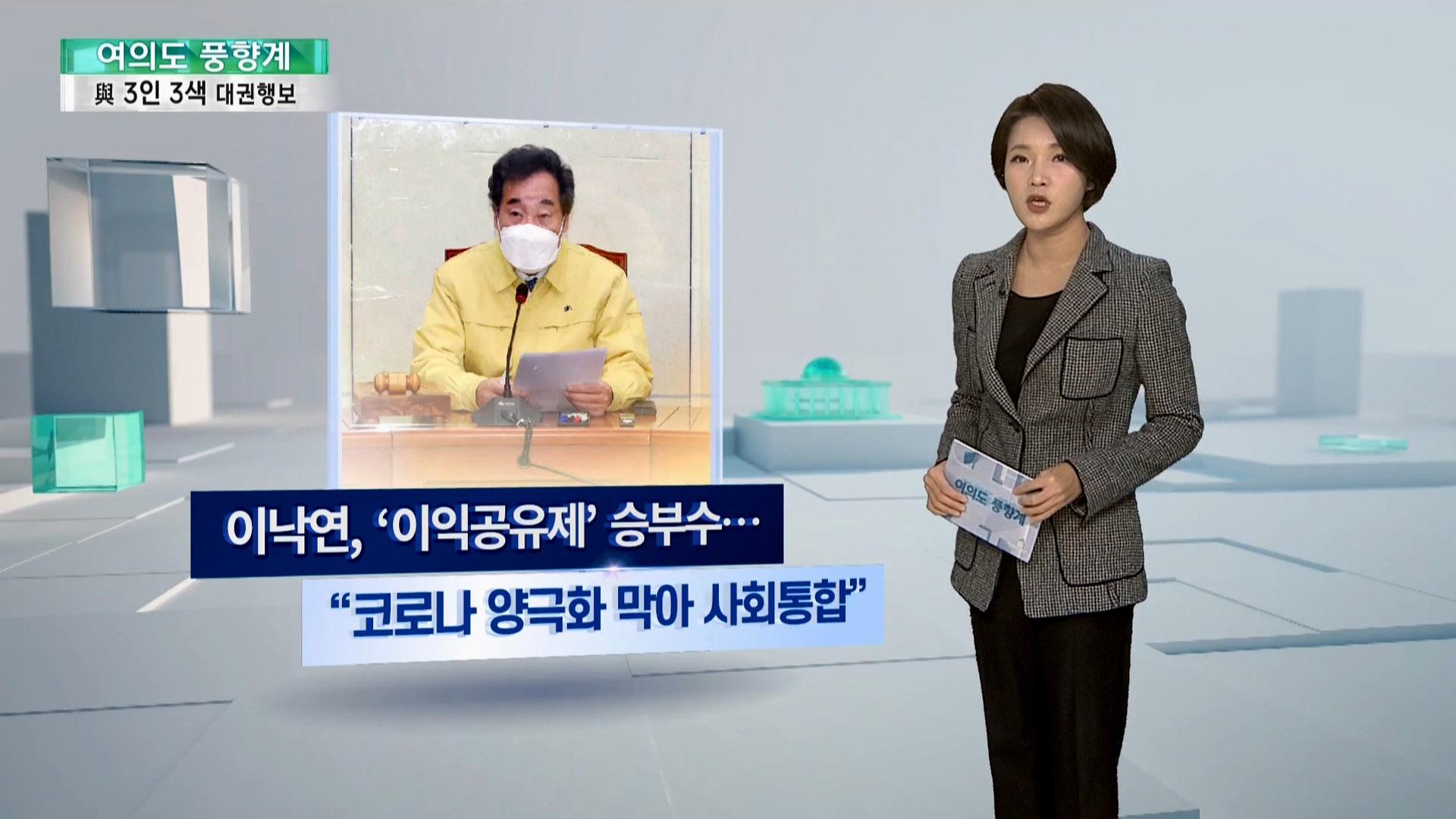 [여의도풍향계] 이익공유·손실보상·기본소득…여권 3인방 '정책대결'