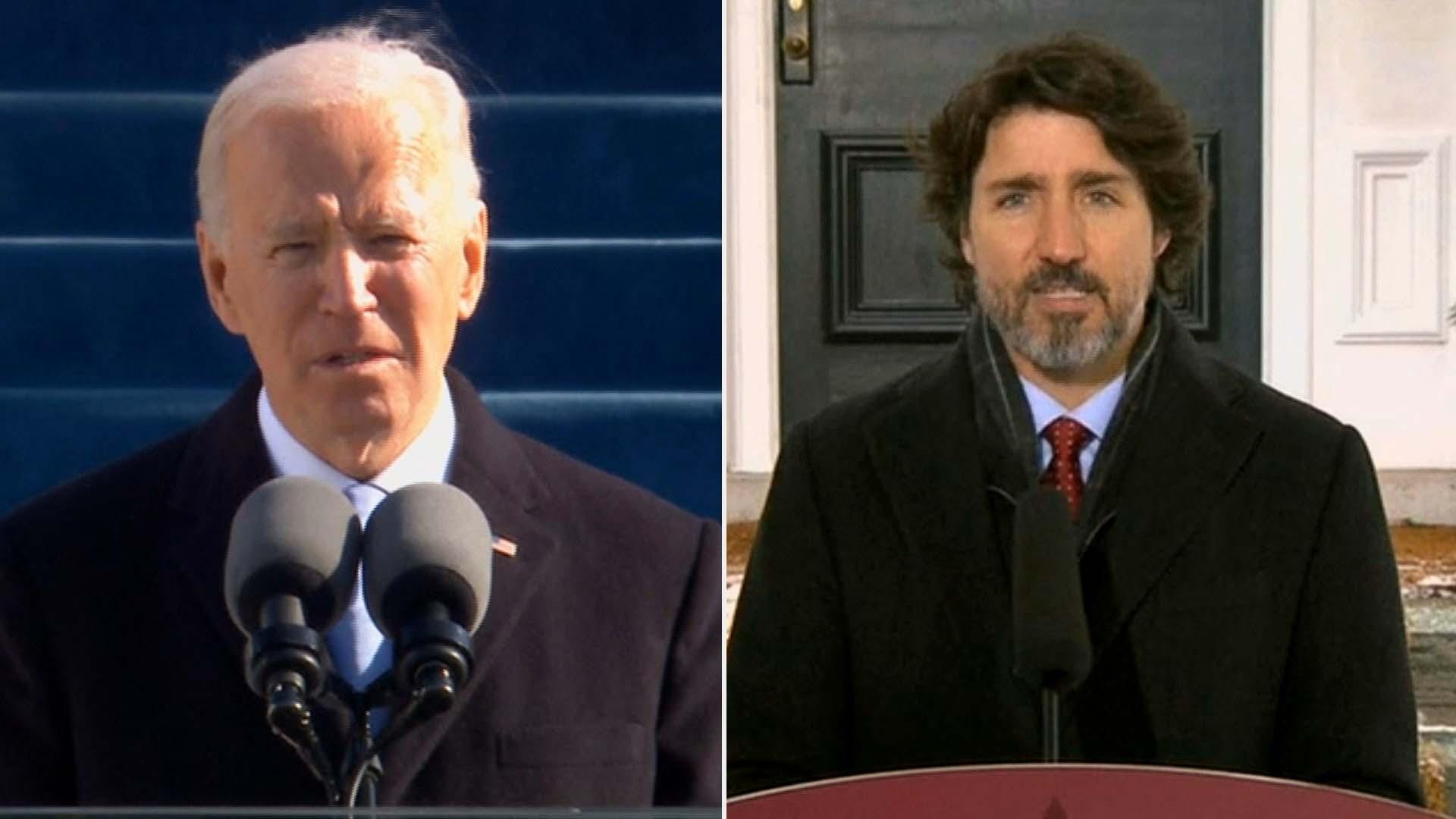 바이든, 정상외교 가동…첫 통화 상대는 캐나다 총리