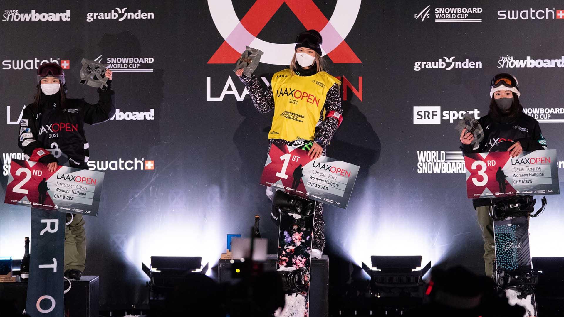 클로이 김, 2년 만에 출전한 스노보드 월드컵 우승