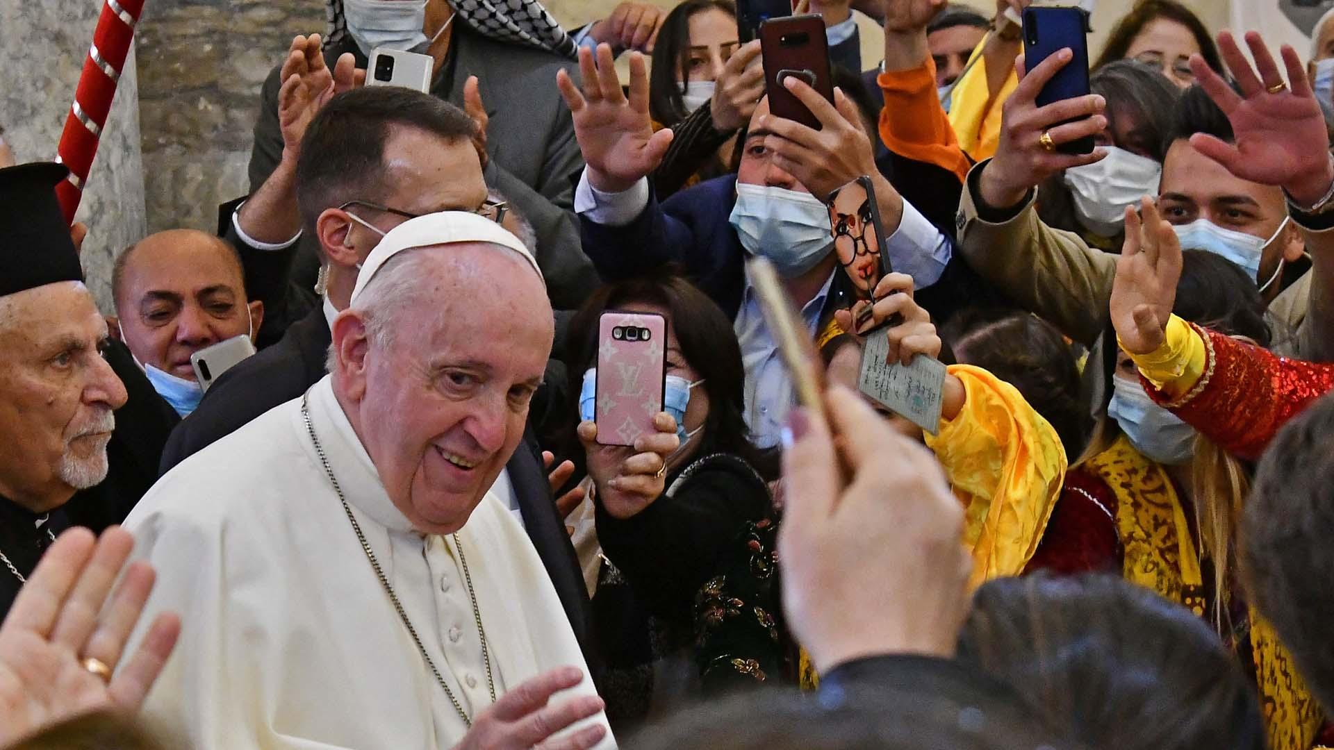 이라크 방문 교황, 모술 찾아 '평화공존' 호소
