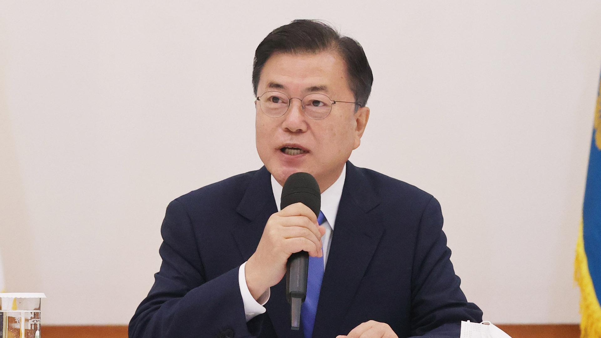 문대통령, 與지도부와 회동…'유능한 원팀' 강조