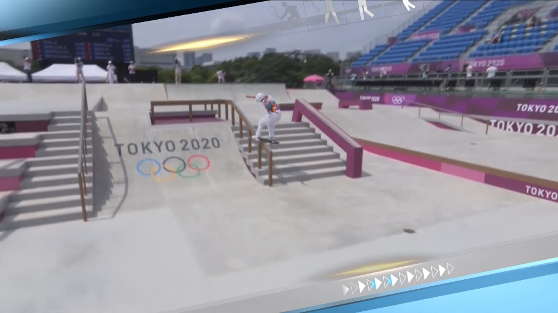 [스포츠영상] 13살 소녀의 금빛 스케이트보드 질주