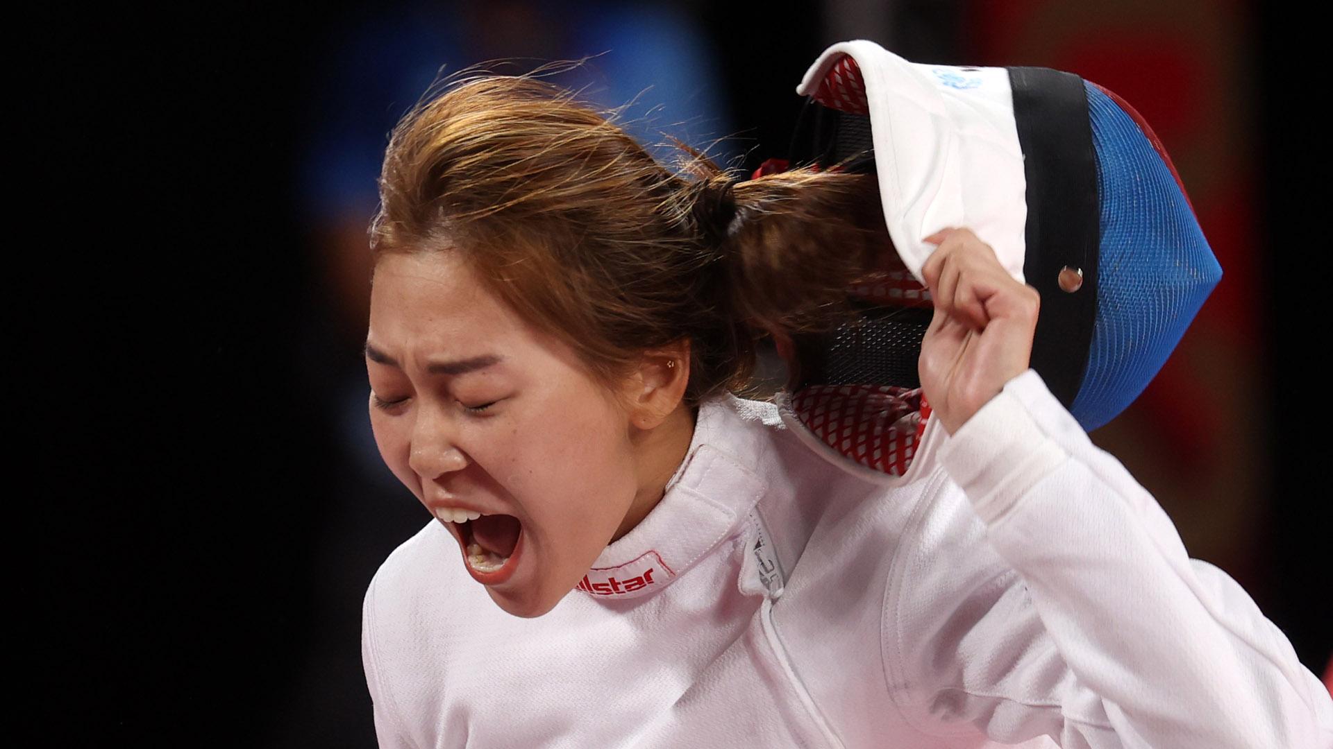 '근대 5종' 김세희, 여자 펜싱 랭킹 라운드 2위