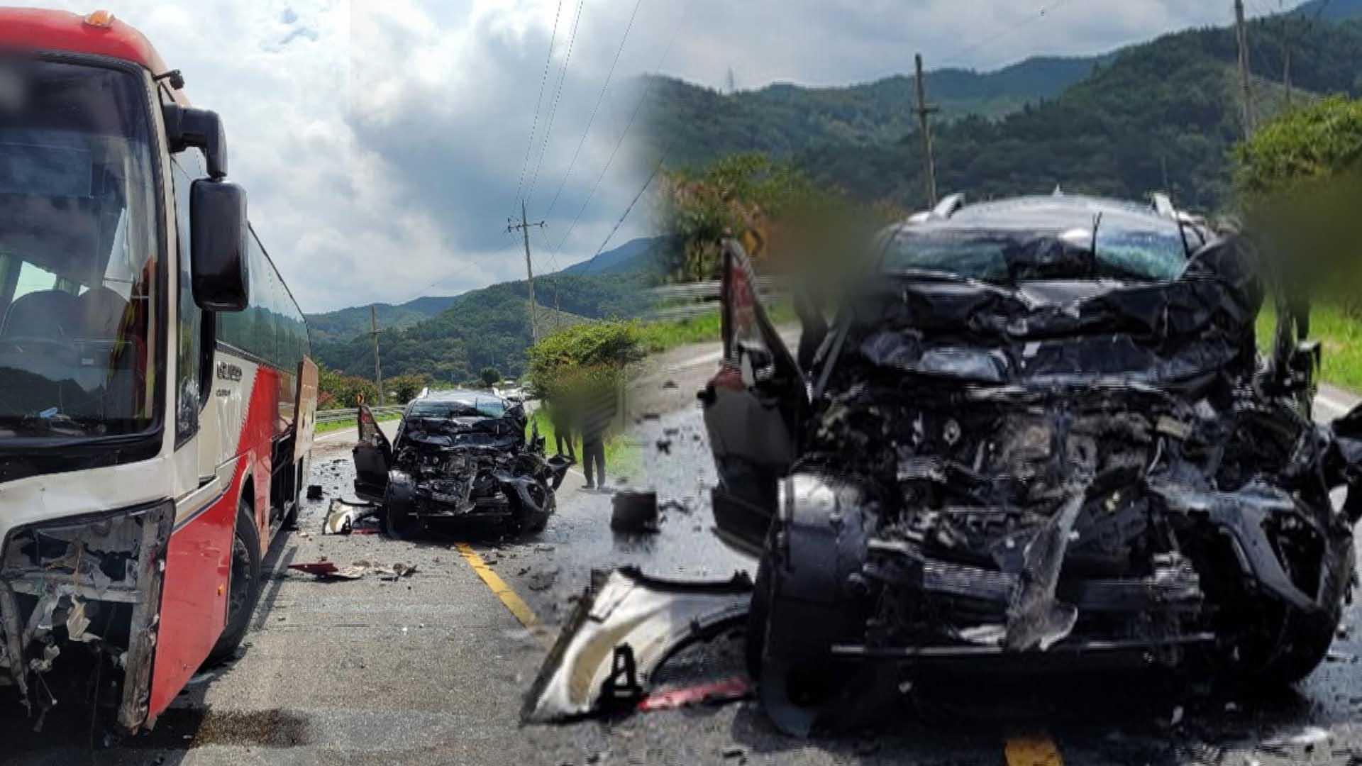 전남 화순서 SUV 중앙선 침범 사고…17명 중경상