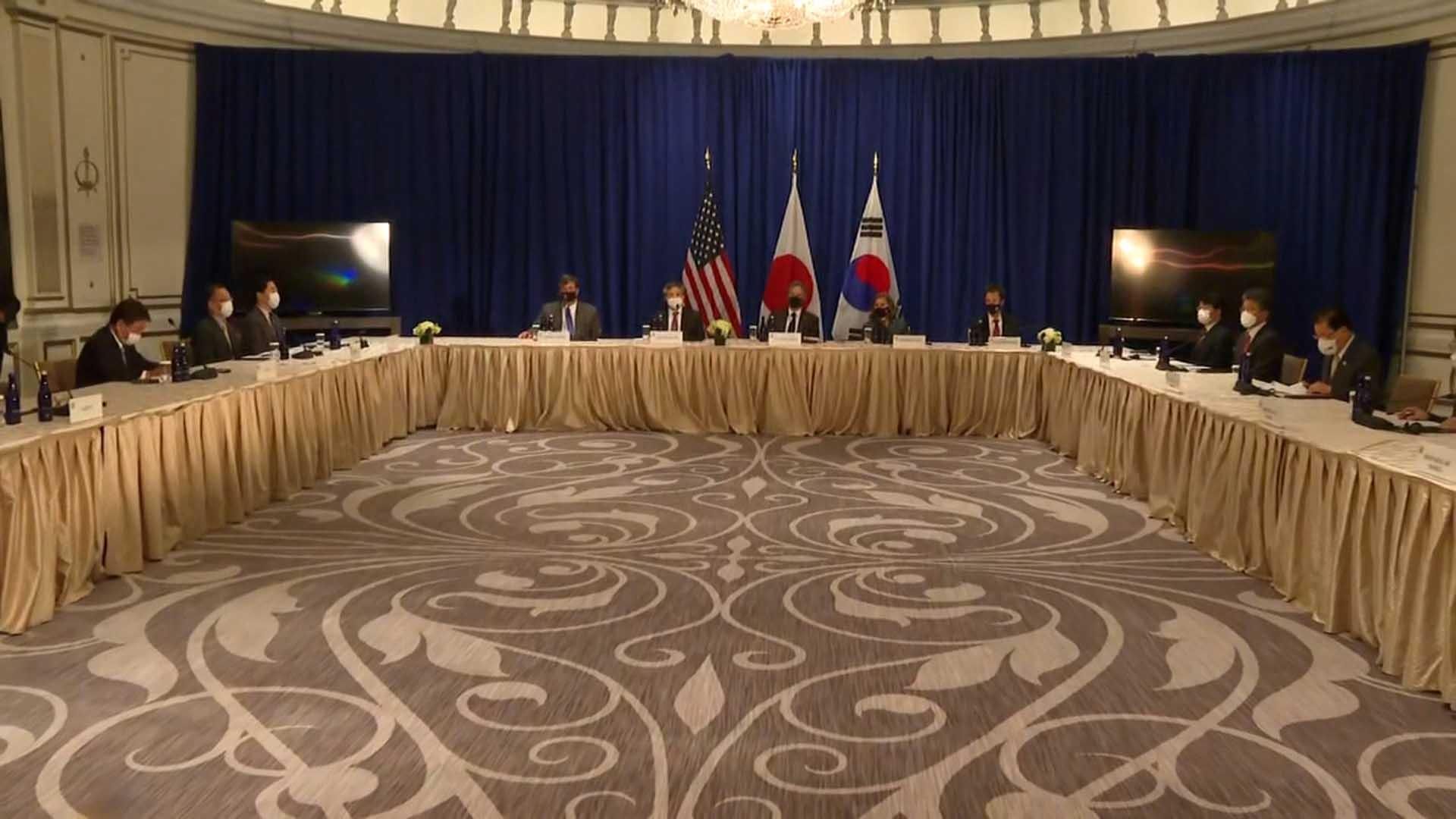 한미일ㆍ한미 연쇄 외교회담…한반도 문제 등 논의