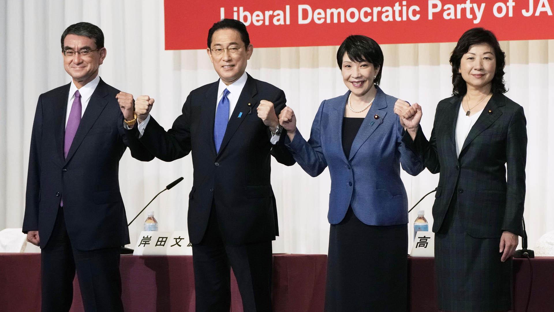 日자민당 총재 선거 종반전…고노, 여론조사서 단연 선두