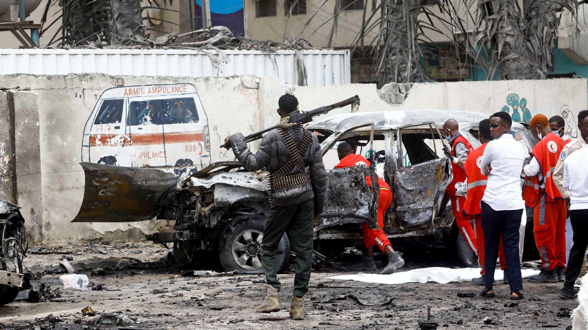 소말리아 모가디슈 대통령궁 인근 폭탄테러…8명 사망