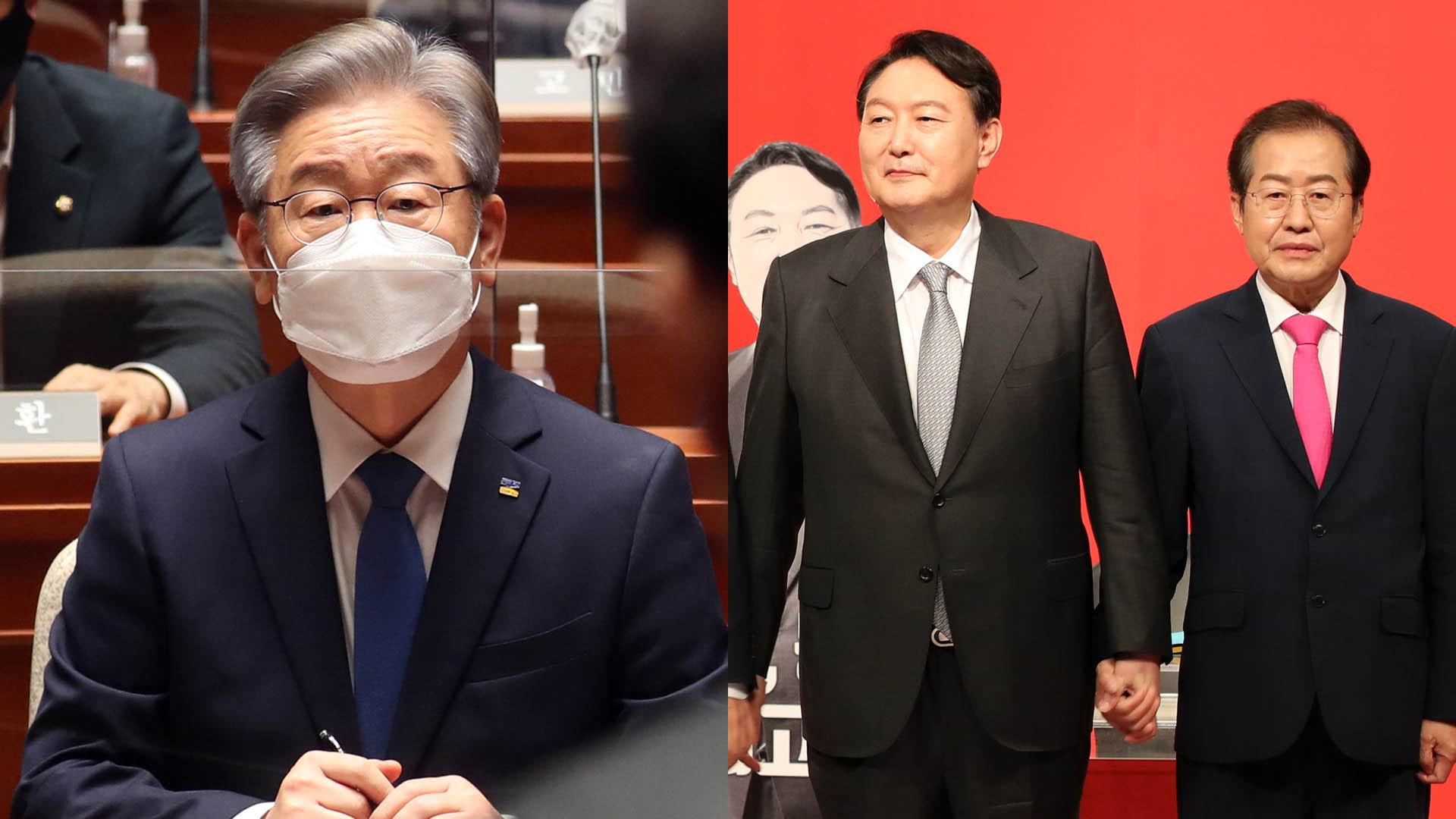 與 경선 앙금 수습에 총력…윤석열-홍준표 첫 맞수토론