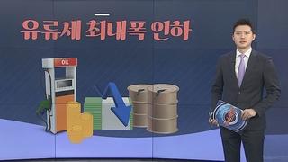 [그래픽뉴스] 유류세 최대폭 인하