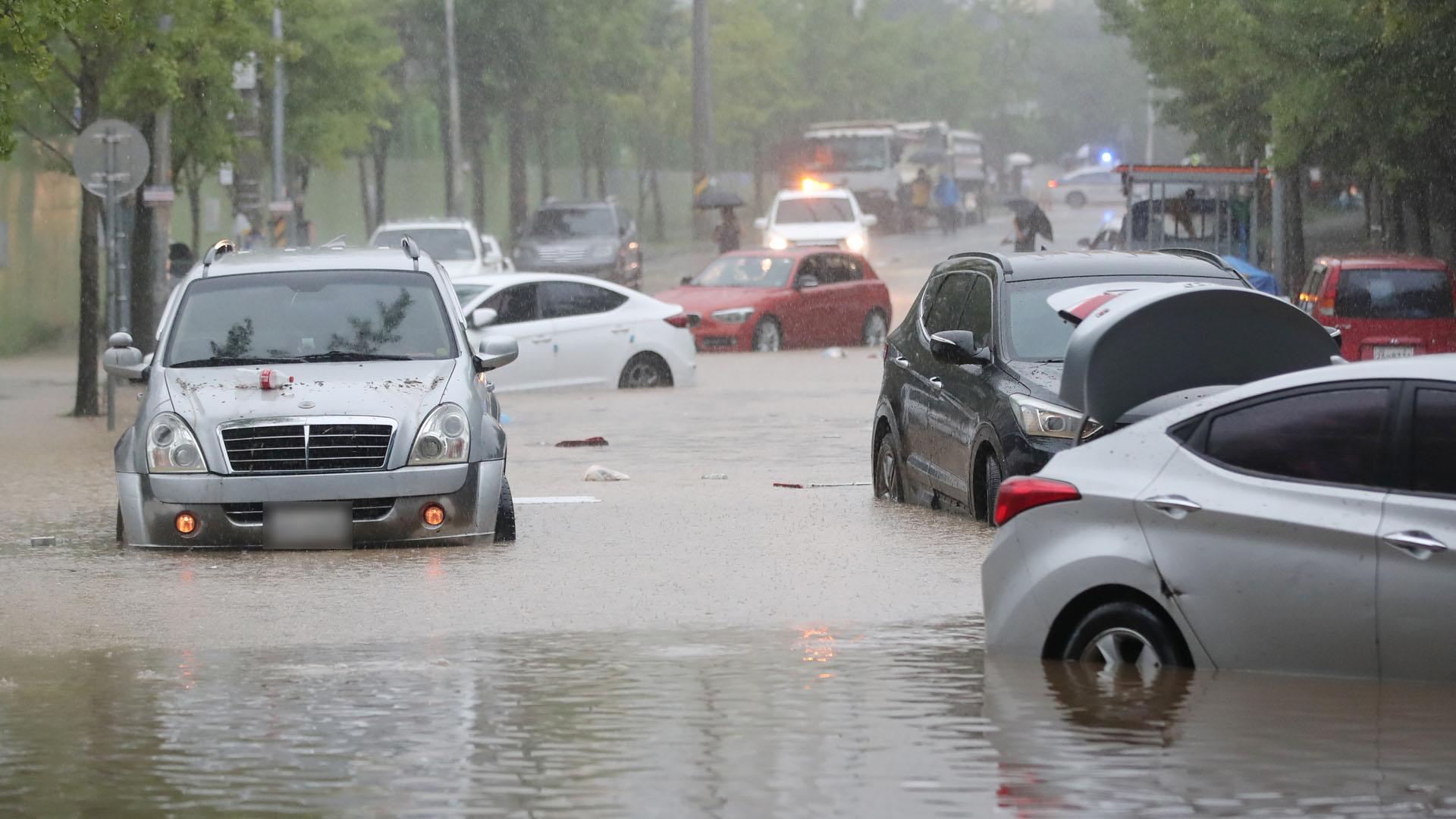 폭우엔 속도 절반…타이어 절반 물 잠기면 빠져나와야